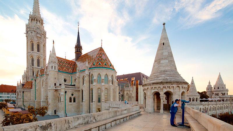Вид на Парламент Будапешта: смотровая площадка Рыбацкого бастиона