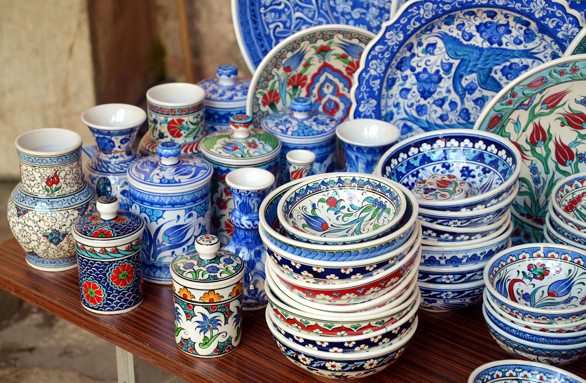 Турецкая керамическая посуда, лучшие сувениры из Турции turkish souvenirs from Turkey