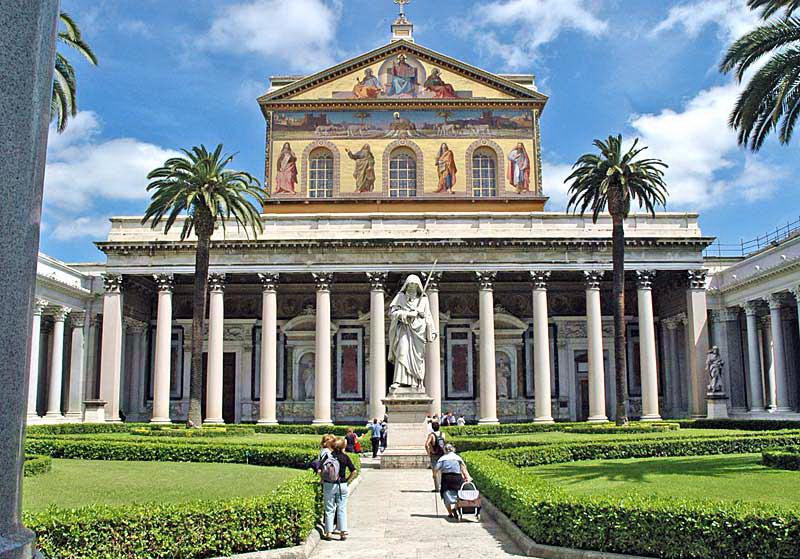 Достопримечательности Рима: Сан-Паоло-фуори-ле-Мура
