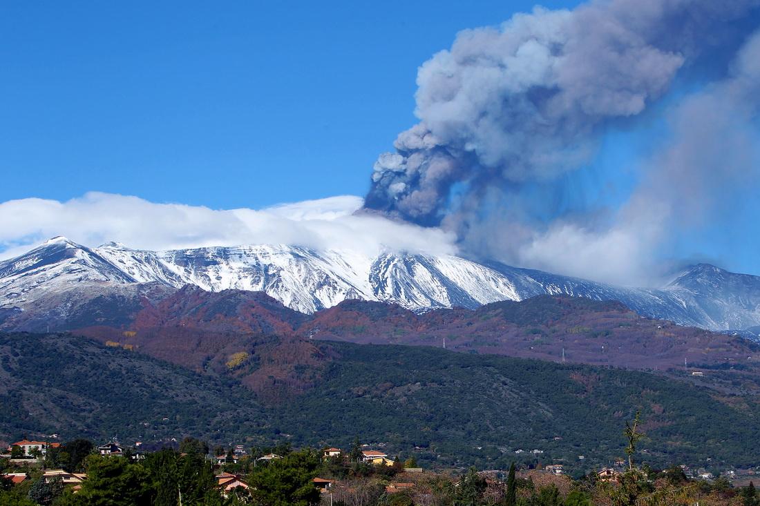 Этна, извержение 2013, Сицилия, Италия (Etna Volcano, Sicily)