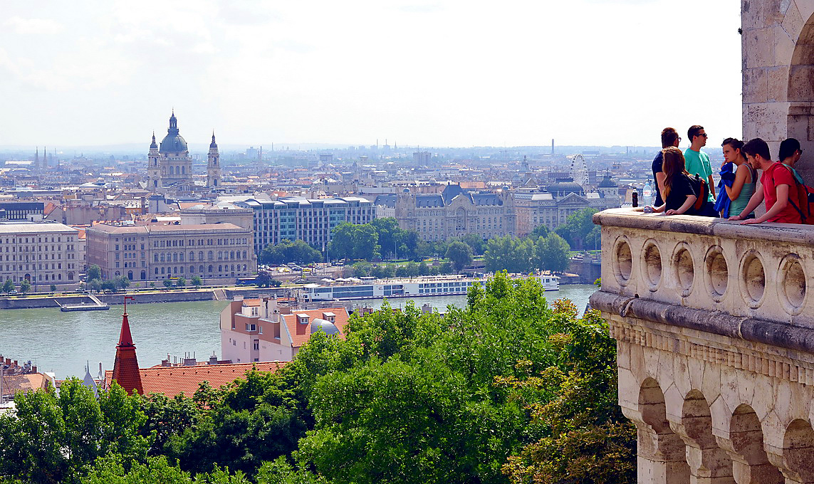 Панорама Будапешта с Рыбацкого бастиона