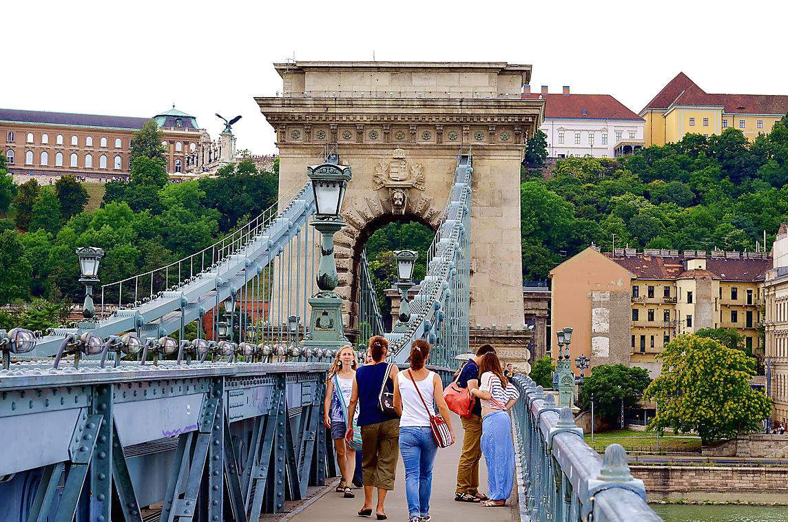 Где находится мост Сечени в Будапеште