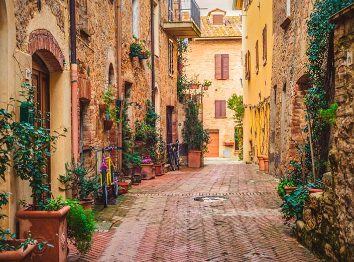 Пьенца, Тоскана, Италия - самые красивые города Тосканы