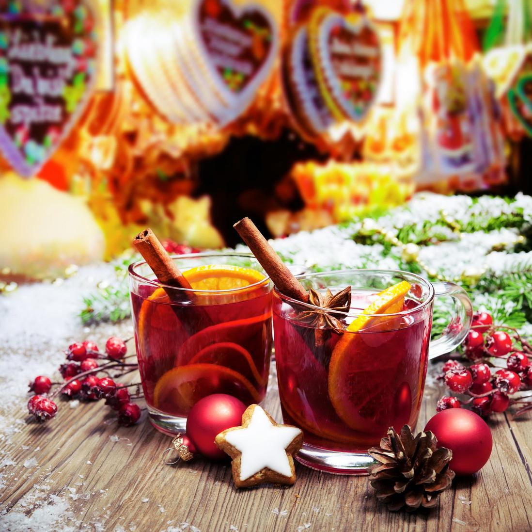 Рождественская ярмарка в Инсбруке - пробуем глинтвейн
