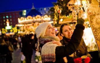Рождественская ярмарка в Лейпциге, Германия