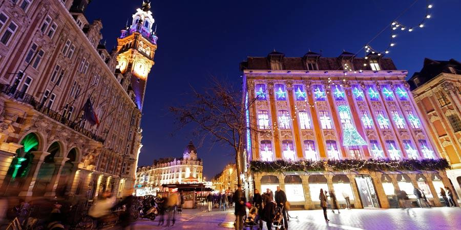 Рождественский базар Лилля, Франция