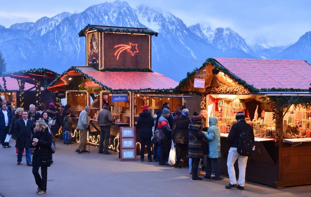 Рождественская ярмарка в Монтрё