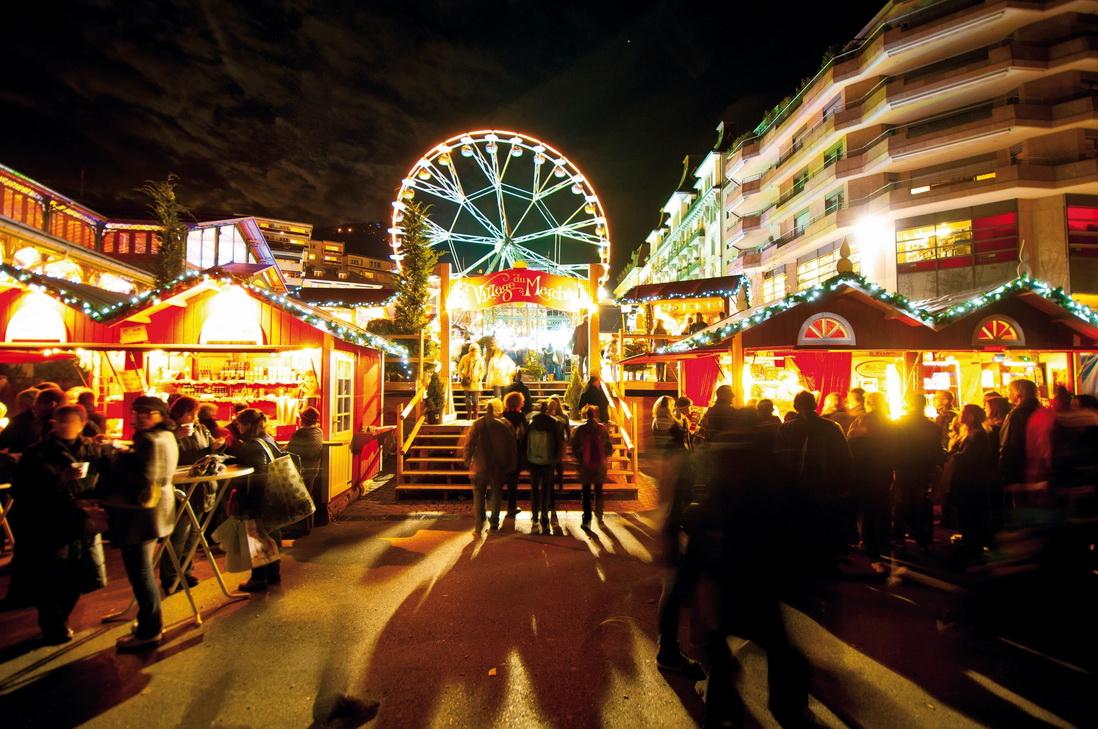 Рождественский базар в Монтре (Швейцария)