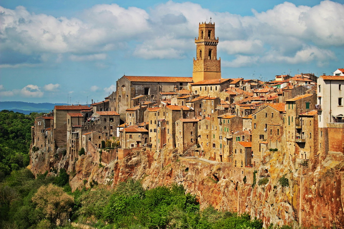 Город Питильяно, Тоскана, Италия