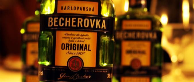 Популярные чешские алкогольные напитки - Бехеровка!
