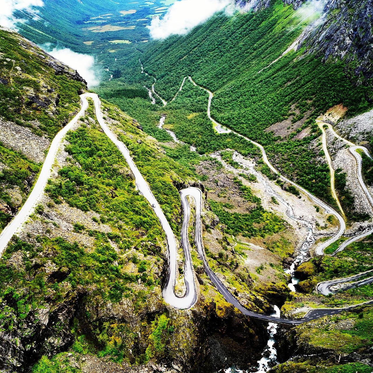 Дорога троллей (Тролльстиген, Норвегия)