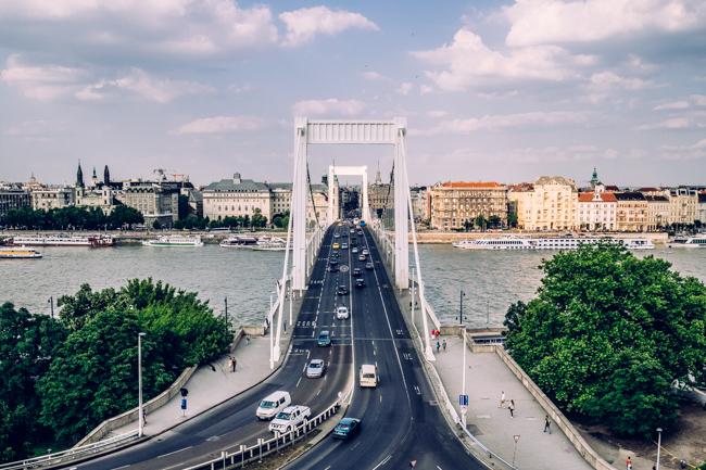 Мосты Будапешта — #2 Мост Эржебет