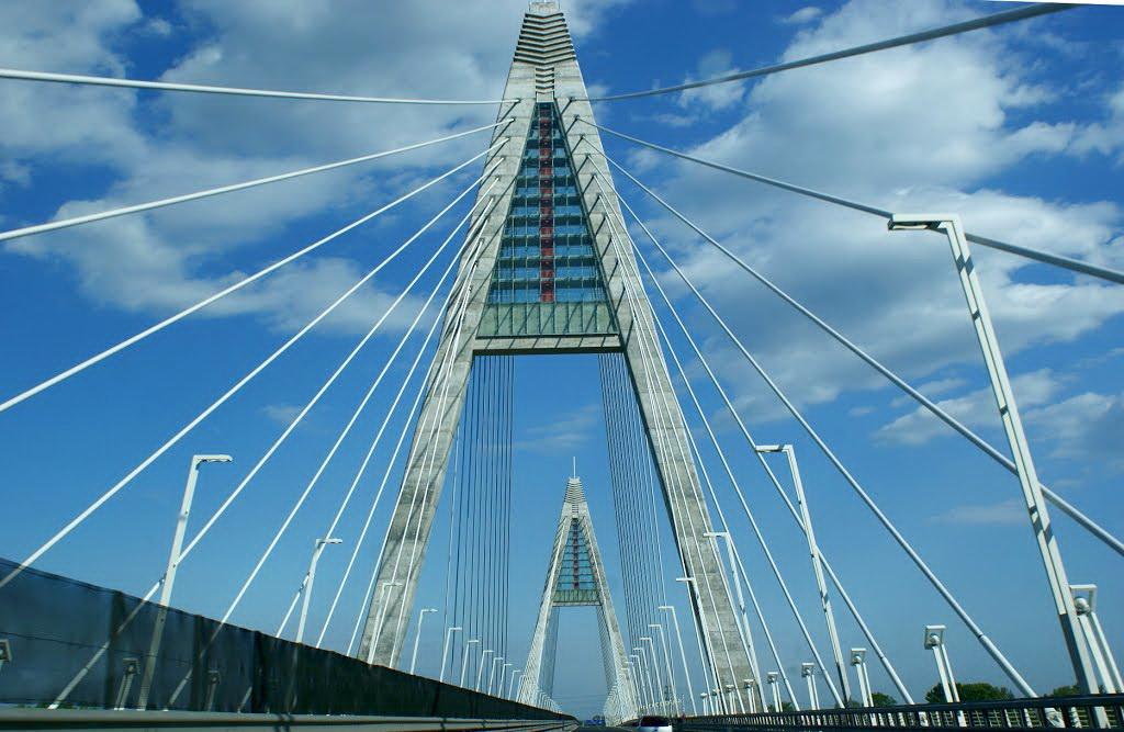 Сколько мостов в Будапеште через Дунай - мост Медьери