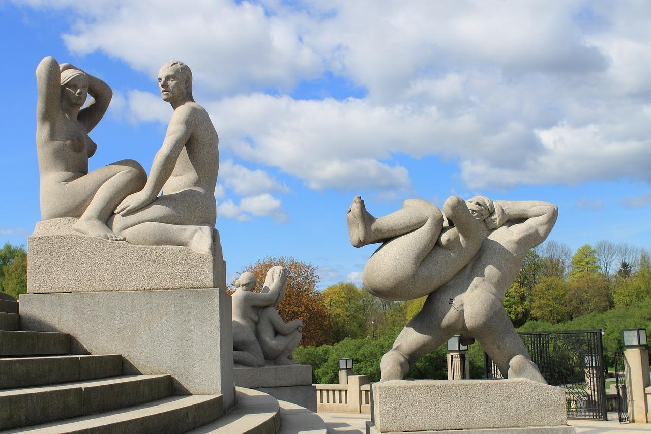 Скульптуры в Парке Вигеланда (Осло, Норвегия)