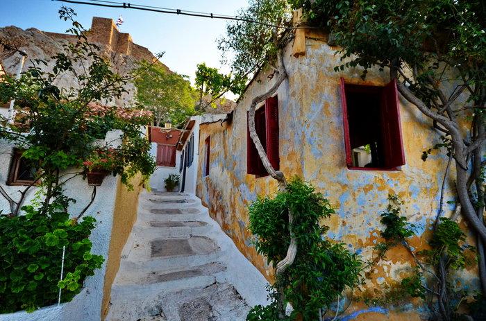 Петляющие улицы и лестницы (Анафиотика, Афины)