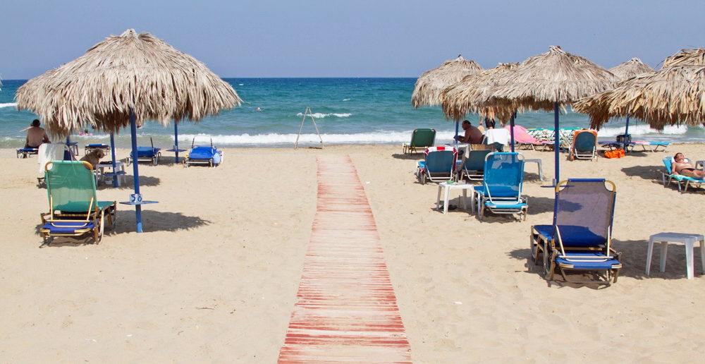 Песчаный пляж Георгиуполиса (Крит, Греция)