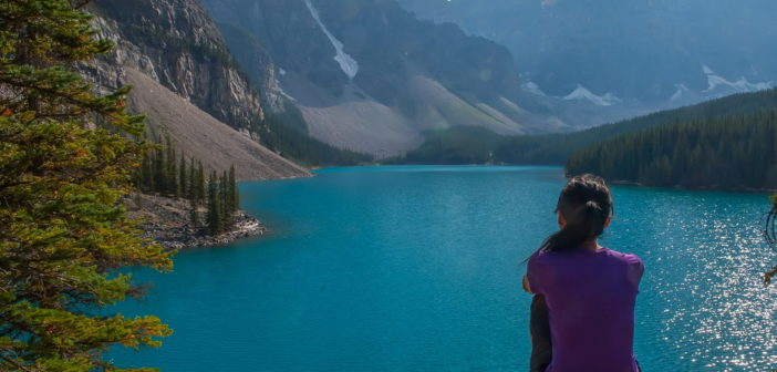 Озеро Морейн, заповедник Банф, Канада