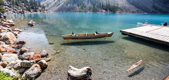 Активный туризм на озере Морейн, Канада