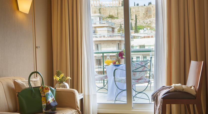 Номер с балконом в Philippos Hotel и видом на Парфенон (Анафиотика, Афины)