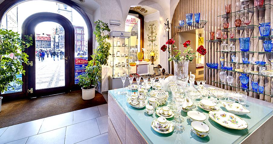 Покупки и сувениры из Праги - Богемское стекло