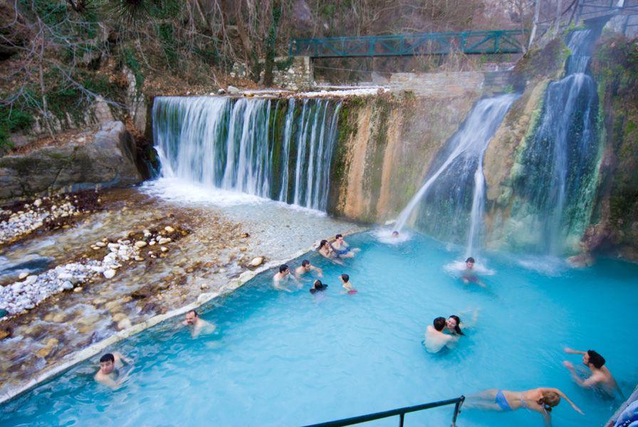 Термальный курорт Лутра Позар - Халкидики, Греция