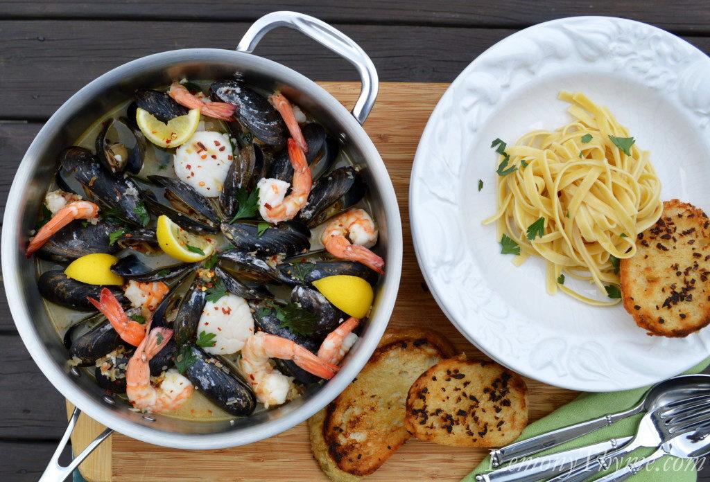 Итальянская паста с морепродуктами - ингредиенты