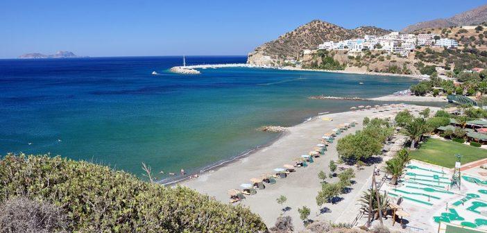 Пляжи в Агиа Галини (Крит, Греция)