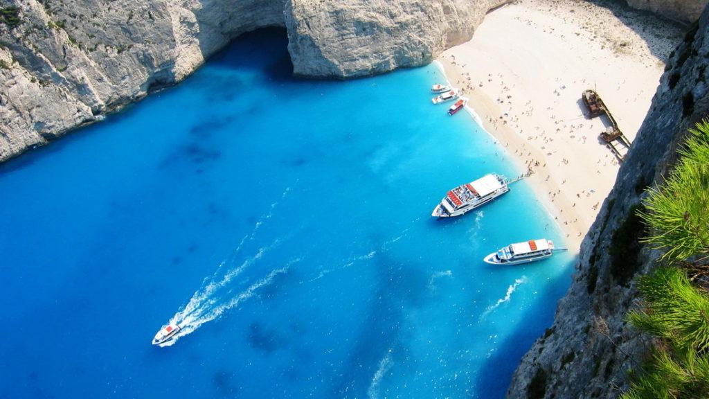Пляж Навагио, Греция - смотровая площадка