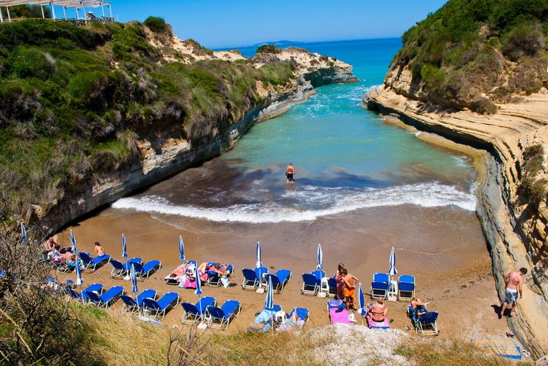 Легендарный пляж Сидари (о. Корфу, Греция)