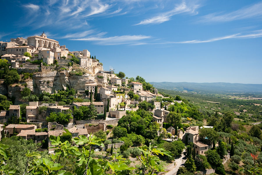 Панорама Горда (Прованс, Франция) Деревня Горд Деревня Горд, Прованс gord france 5