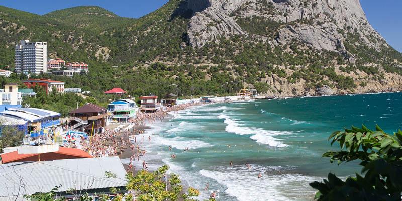 Пляж в Новом Свете, Крым