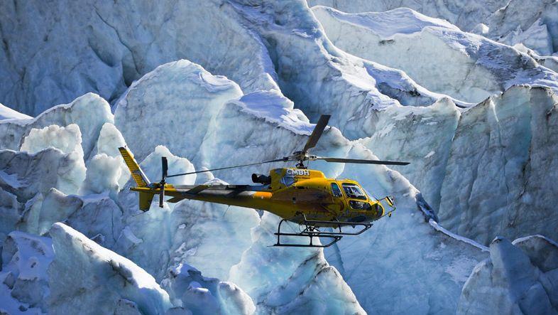 Вертолет МЧС недалеко от Монблана (Аржантьер, Франция)