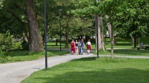 Парк Франца-Йозефа - любимое место отдыха жителей Зальцбурга