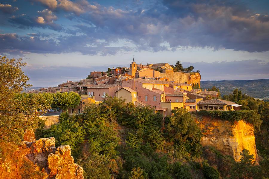 Панорама Руссильона со смотровой площадки прованс 10 лучших городов Прованса Roussillon Provence France 18