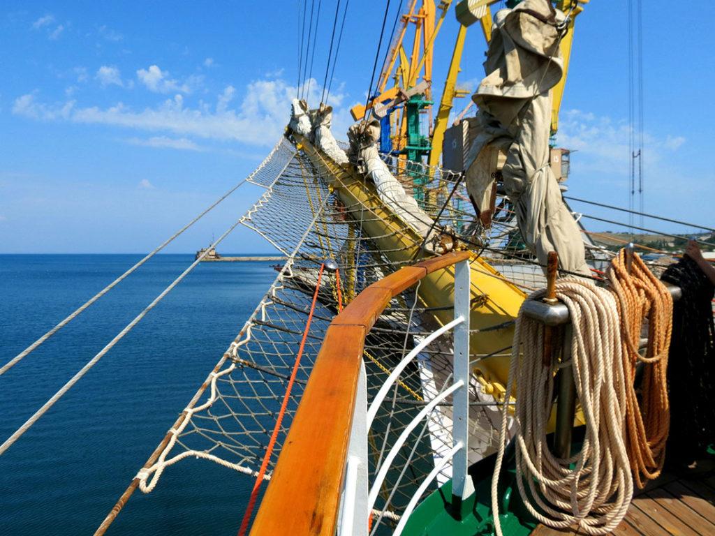 Отреставрированное учебное судно «Херсонес»