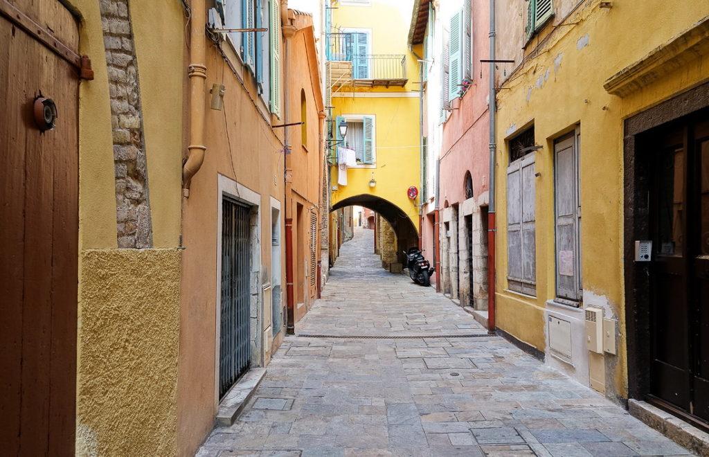 Улицы Старого города (Вильфранш, Франция)