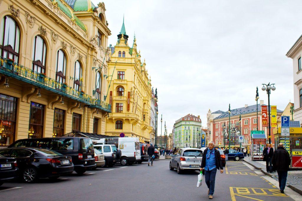 Самые выгодные курсы обмена в Праге — район Вацлавской площади