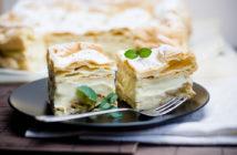 Заварной торт «Карпатка» с ванильным кремом — рецепт, фото