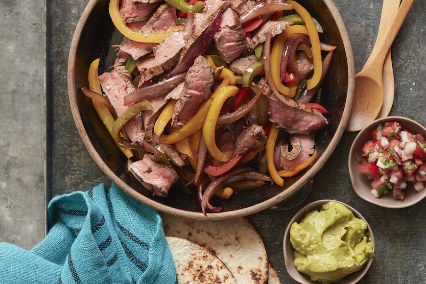 Фахитос из говядины, Мексика - рецепт приготовления, состав