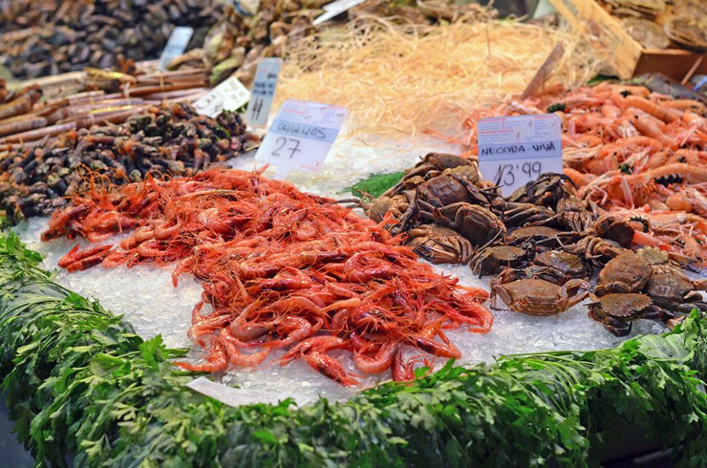 Королевские креветочки и прочие дары моря (Бокерия, Барселона)
