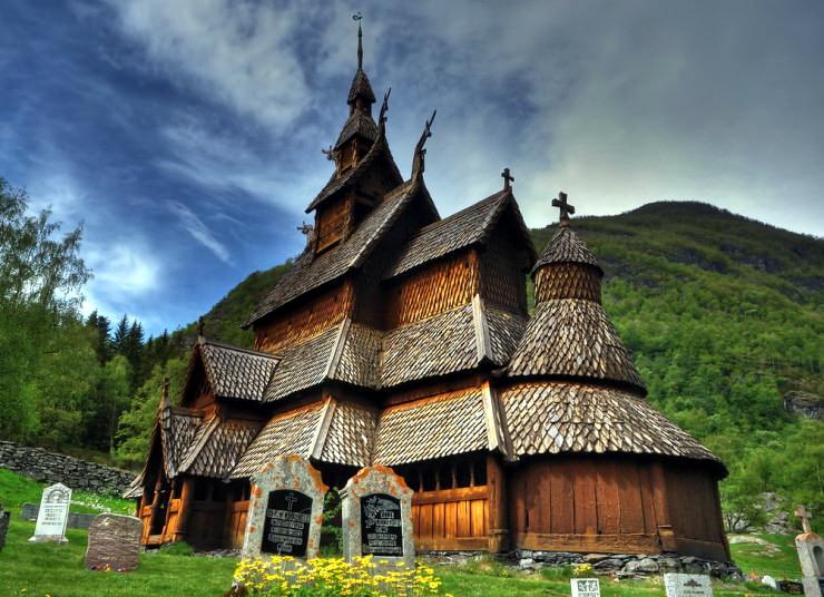 Деревянные церкви (Согне-фьорд, Норвегия)