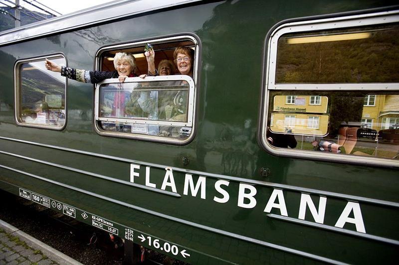 Фломская железная дорога (Согне-фьорд, Норвегия)