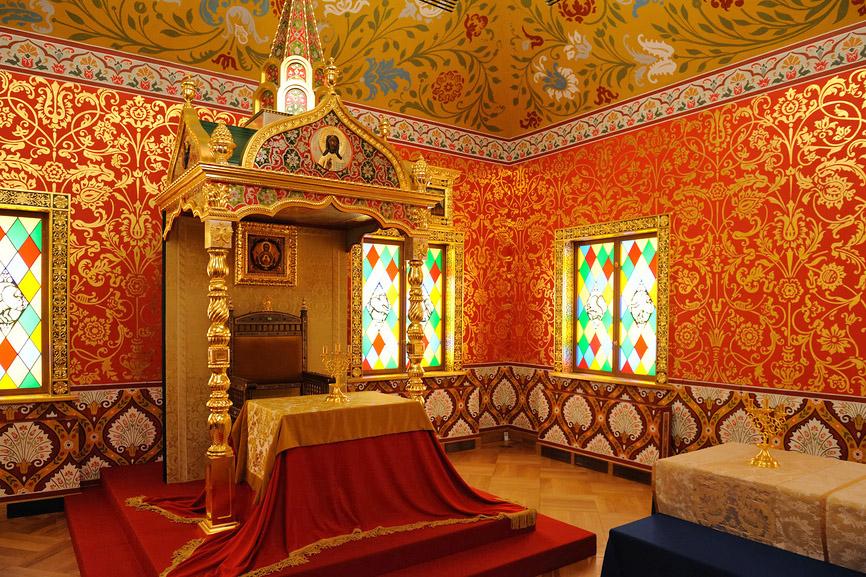 Столовая палата во дворце царя Алексея Михайловича в Коломенском