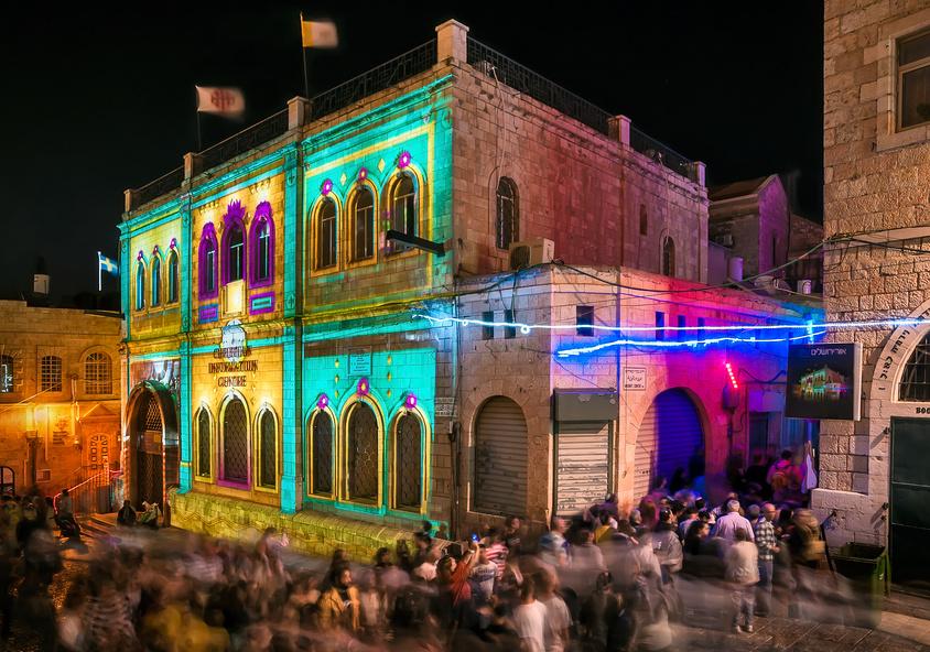 Фестиваль света в Иерусалиме / Фотобанк Лори