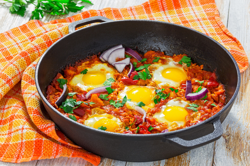 Традиционная еда в Израиле: яичница шакшука