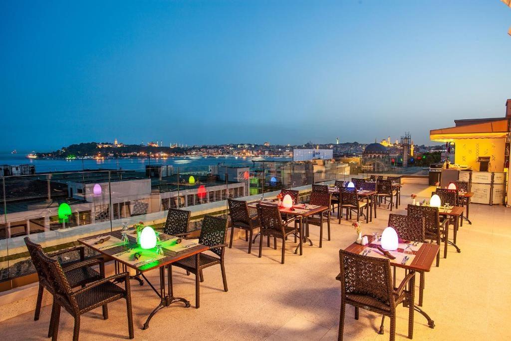 Панорамная терраса в Nidya Hotel Galataport (Стамбул, Турция)