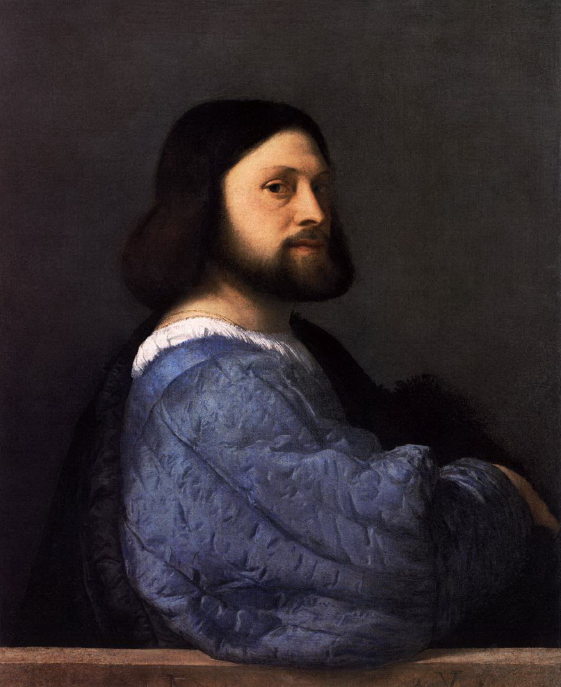Шедевры барокко: «Портрет мужчины в платье с синими рукавами», Тициан