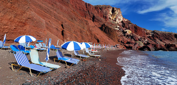 Пляжи Санторини от А до Я — описание, расположение, инфраструктура