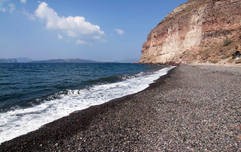 Лучшие пляжи Санторини: пляж Кальдера