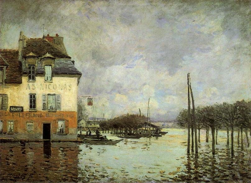 «Наводнение в Порт-Марли», Альфред Сислей